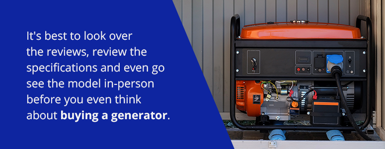 how to buy a generator