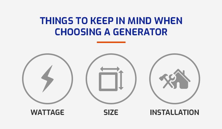 things to keep in mind buying a generator